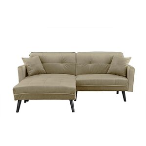 Ebern Designs Bisson Brush Convertible Sleeper Sofa