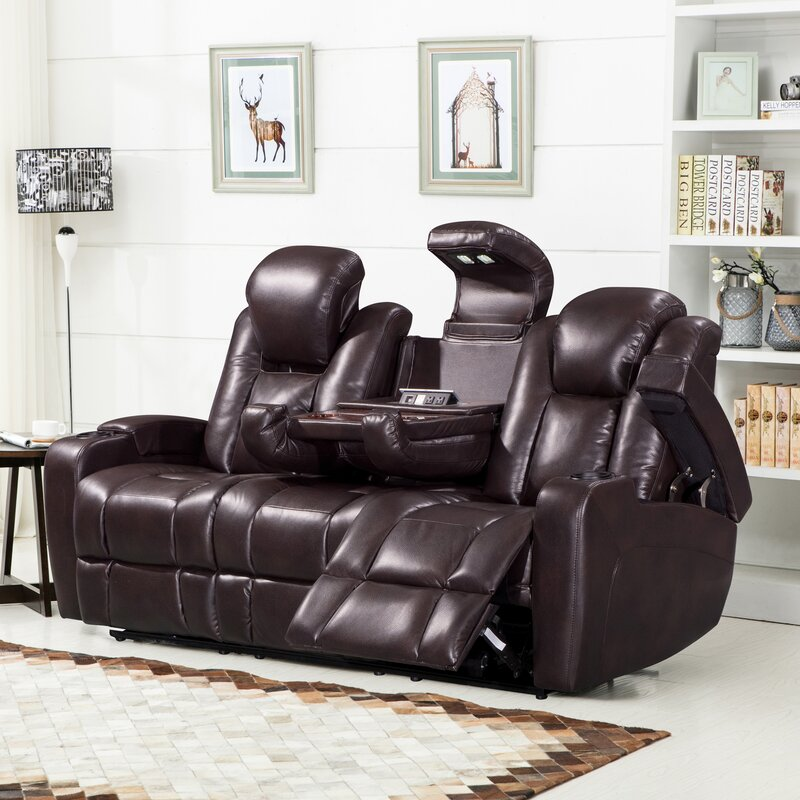 Piccadilly Air Transforming Power Leather Reclining Sofa