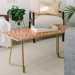 Hello Sayang Sweet Rose Petals Coffee Table by East Urban Home
