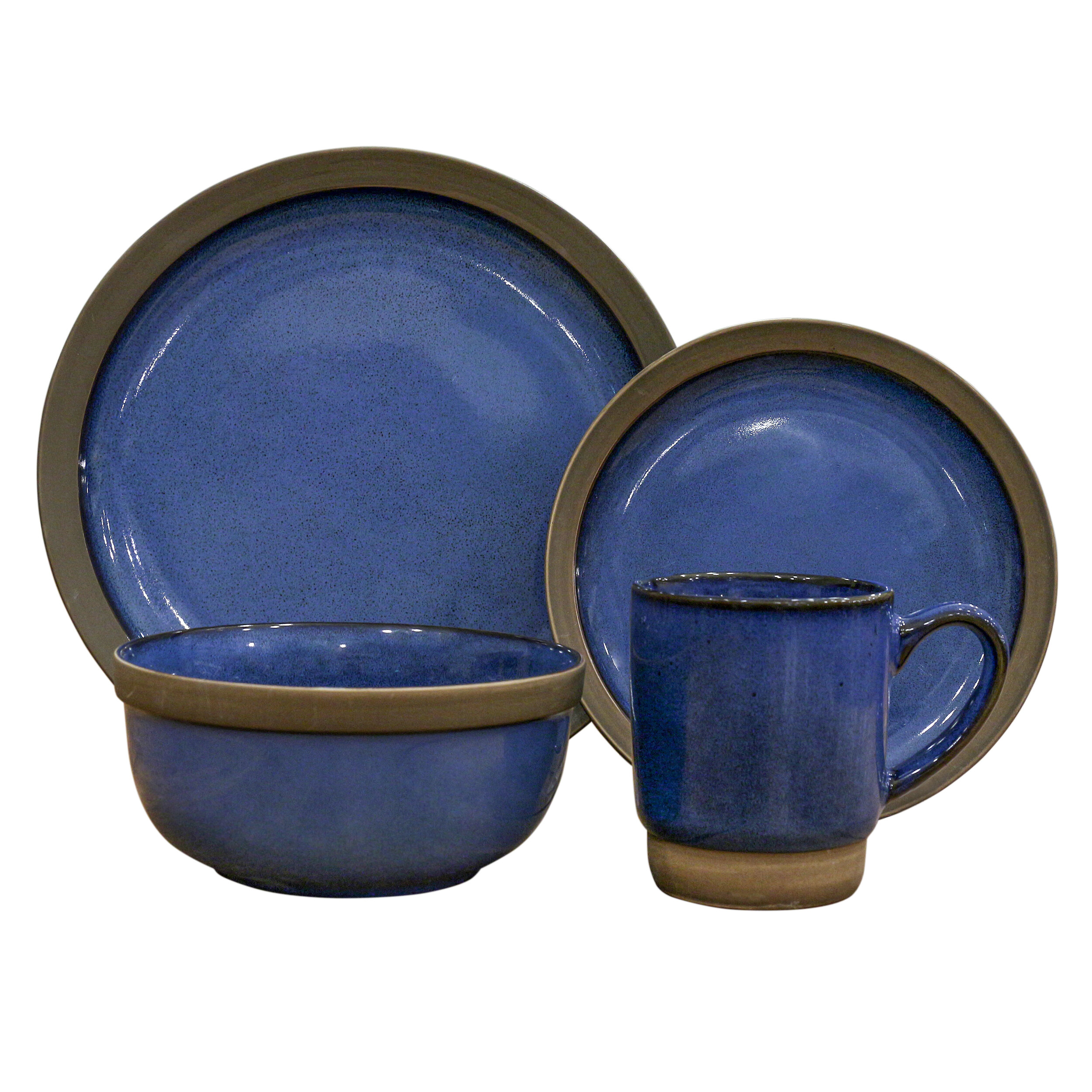 16 Piece Dinnerware Set Service for 4. by Over and Back  sc 1 st  Wayfair & Over and Back | Wayfair