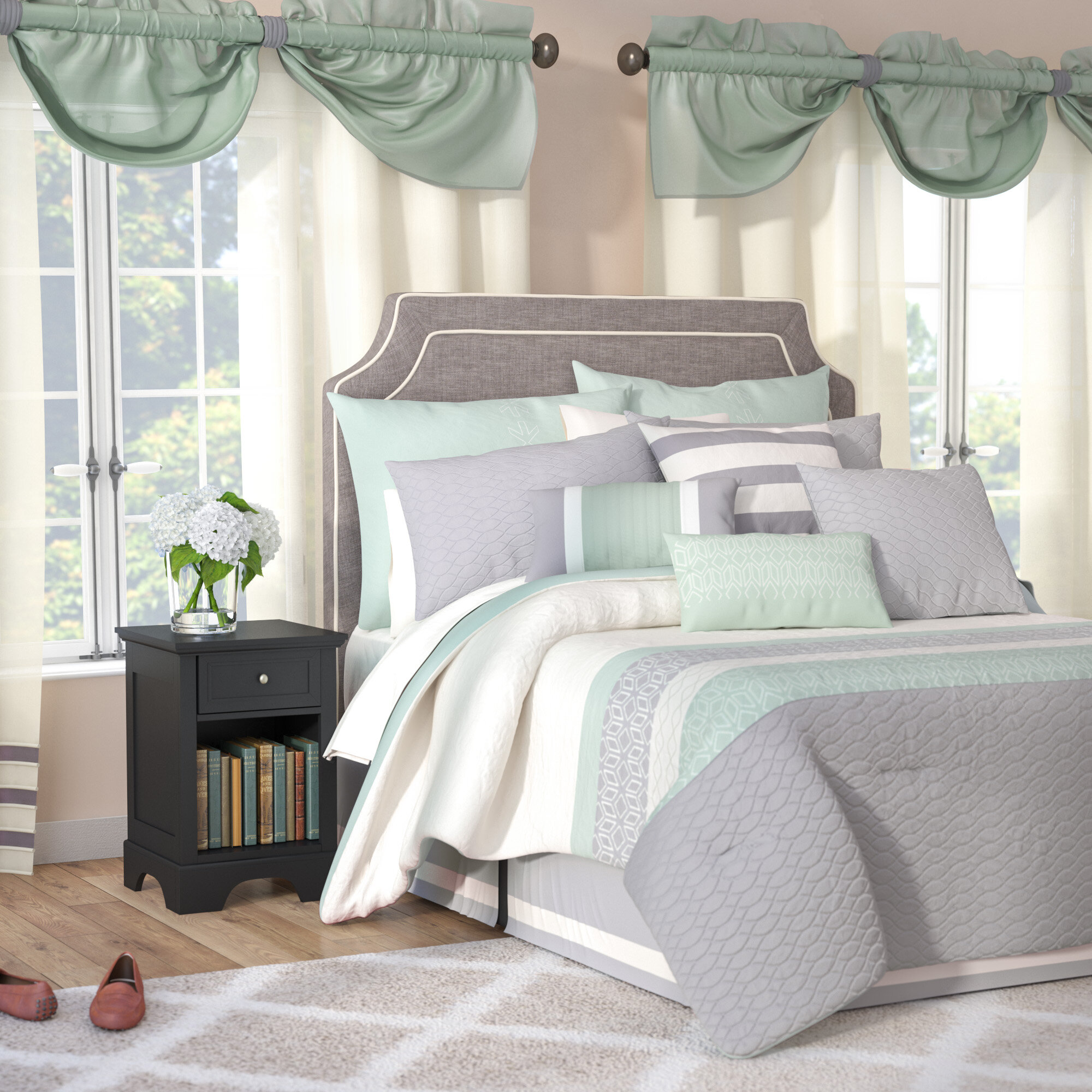 pdx comforter set bath piece skelley mills wayfair reviews drapes bed above andover