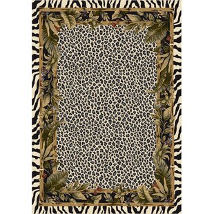 Signature Jungle Safari Snow Leopard Area Rug
