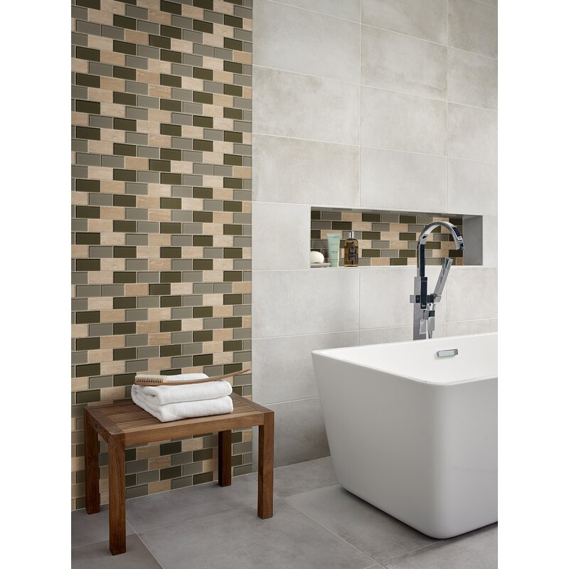 Msi 2 X 4 Glass And Stone Subway Tile In Beige Wayfair