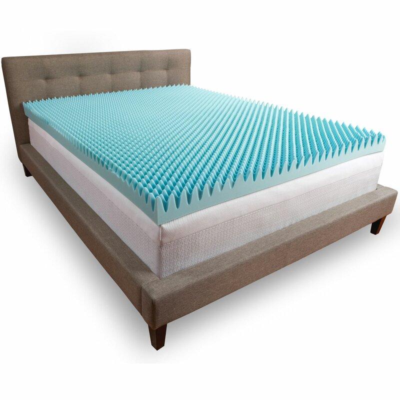 comfort revolution convoluted 4 memory foam mattress topper reviews. Black Bedroom Furniture Sets. Home Design Ideas