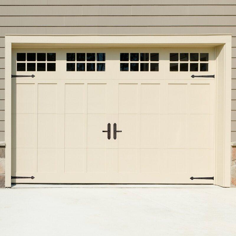 6 Piece Rustic Aspen Magnetic Garage Door Hardware Set