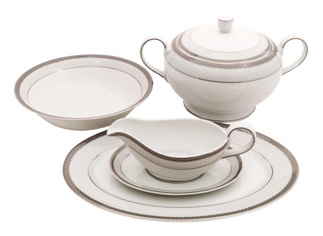 Diamond Fine China Special Serving 5 Piece Dinnerware Set  sc 1 st  Wayfair & Shinepukur Ceramics USA Inc. Diamond Fine China Special Serving 5 ...