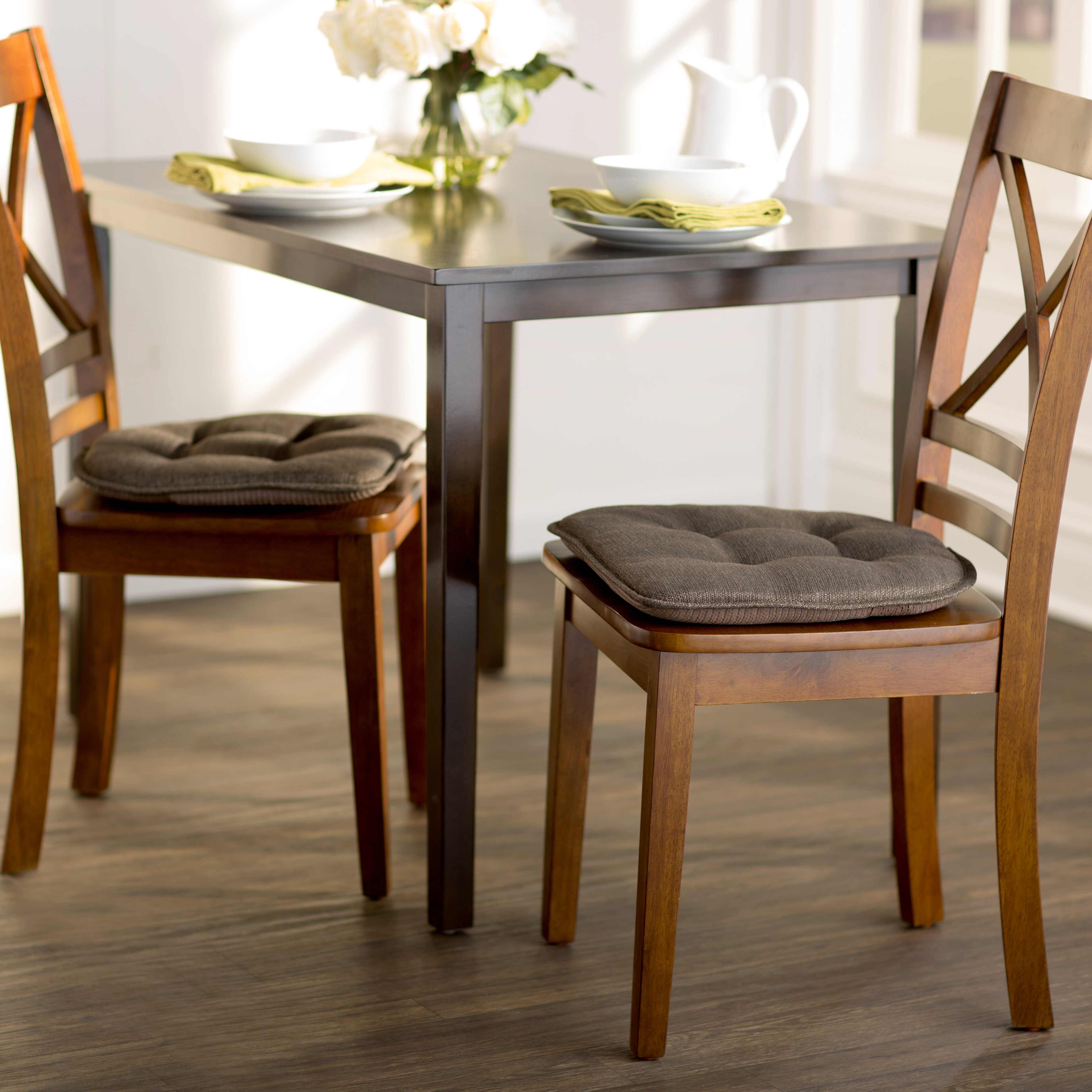 Wayfair BasicsTM Basics Gripped Chair Cushion Set Reviews