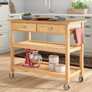 Ewart Kitchen Island With Wood Top Purchase