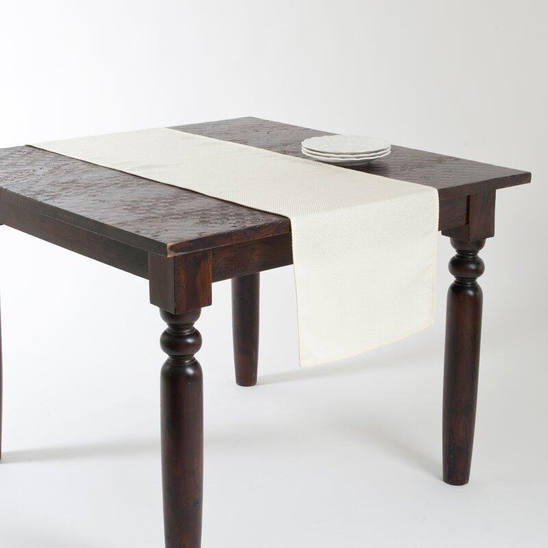 Ezra Basket Weave Design Table Runner