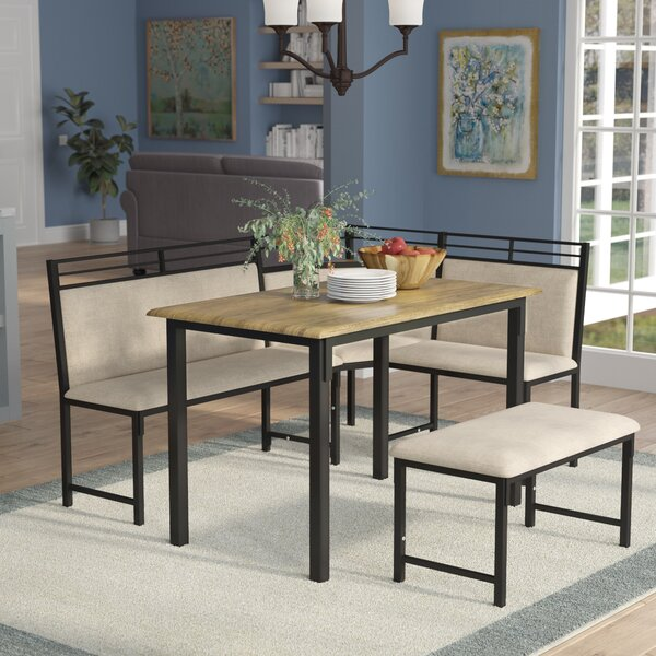 Fine Corner Table And Bench Set Wayfair Complete Home Design Collection Papxelindsey Bellcom