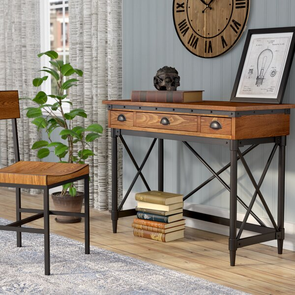 Trent Austin Design Duke 2 Drawer Industrial Writing Desk