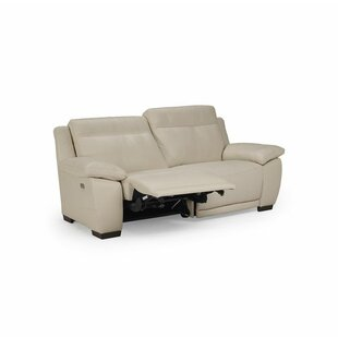 Sandro Leather Reclining Loveseat. By Natuzzi Editions