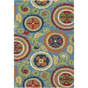 Fair Winds Denim Blue Medallion Indoor/Outdoor Area Rug