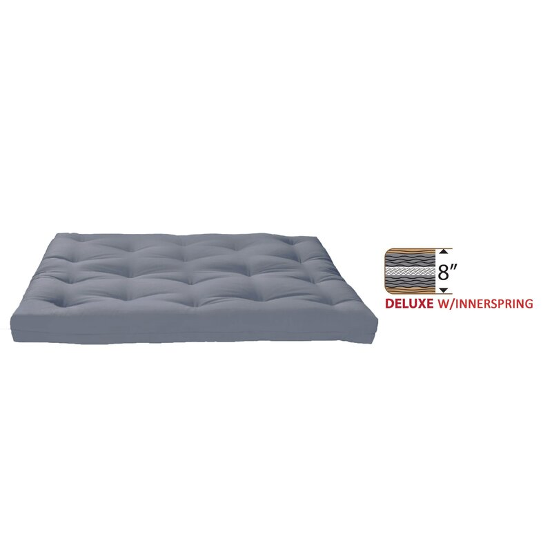 8 Medium Innerspring Full Futon Mattress