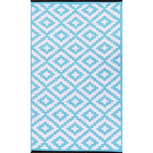 Find for Nirvana Blue/White Indoor/Outdoor Area Rug ByGreen Decore
