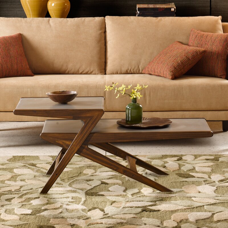 Aurelle Home Amanda Glass Top Rectangle Coffee Table: Ink + Ivy Rocket Coffee Table & Reviews