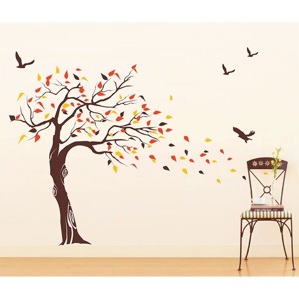 Pop Decors Beautiful Tree And Birds Wall Decal U0026 Reviews | Wayfair