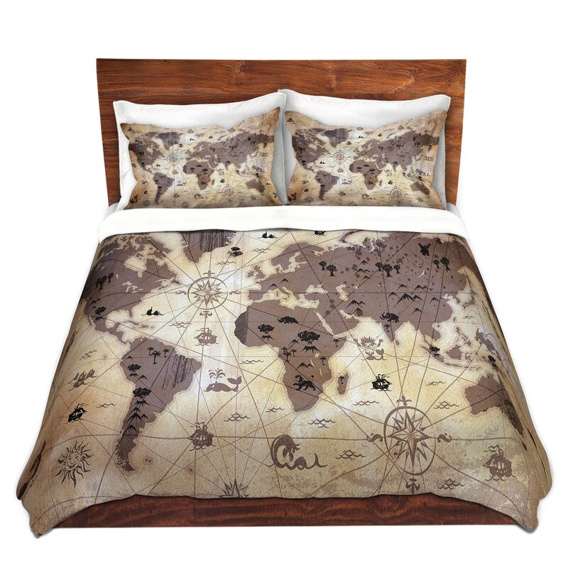 Dianochedesigns whimsical world map duvet set reviews wayfair whimsical world map duvet set gumiabroncs Images
