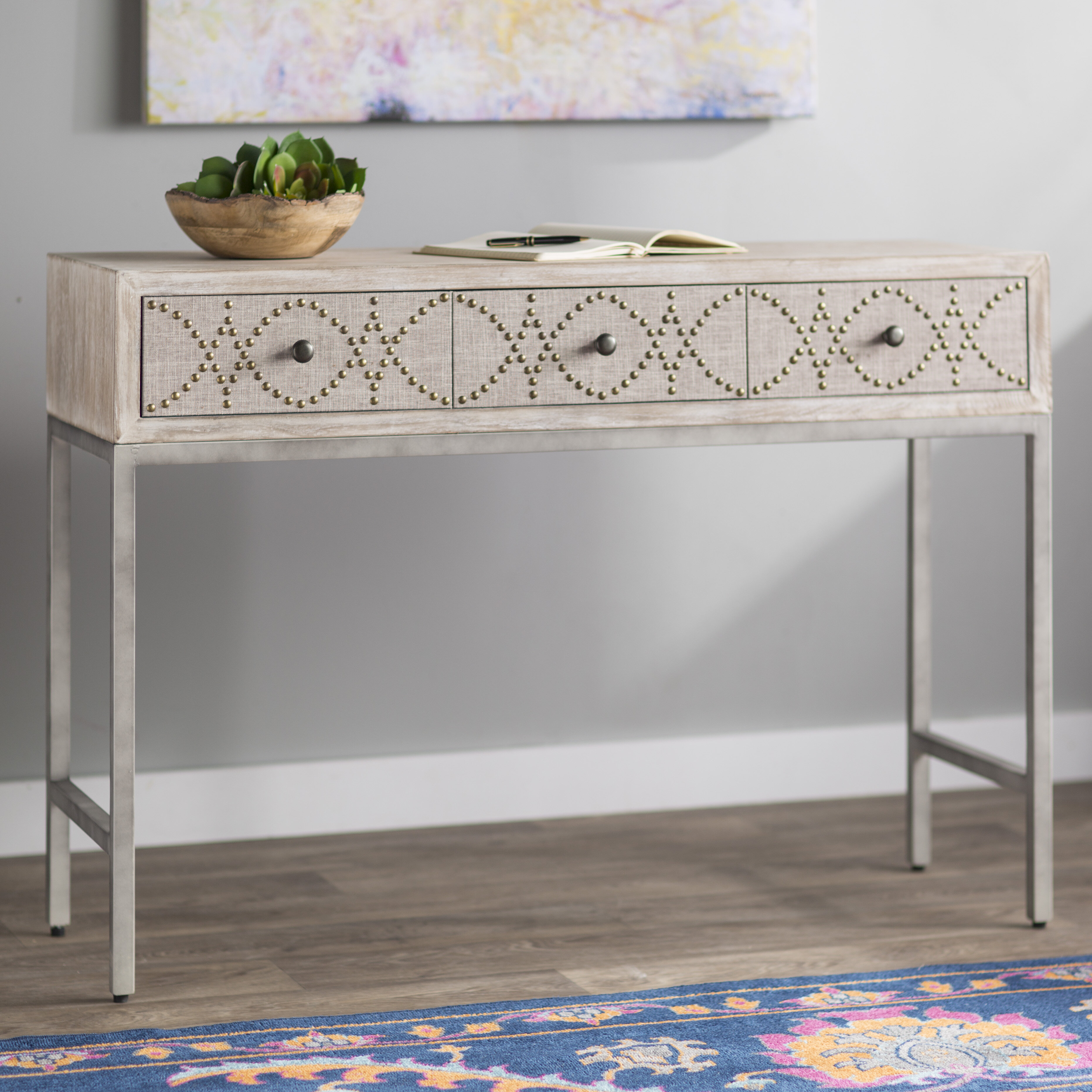 with tiers drawers writing decofurnish small desk two gray white
