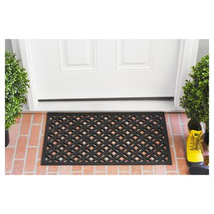 decorative rubber door mats wayfairkrull rubber door mat