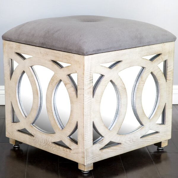 Statements By J Tyra Mirrored Cube Ottoman Reviews Wayfair - Mirrored cube end table