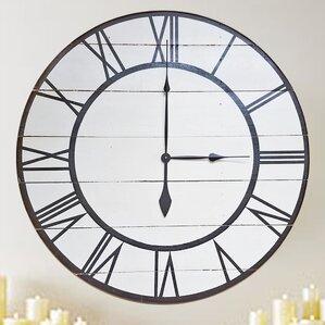 oversized rustic modern wall clock