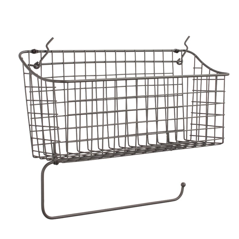 Pegboard Basket Wall Mounted Paper Towel Holder Reviews Joss Main