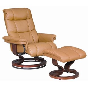 Key West Manual Swivel Recliner With Ottoman