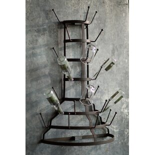Shotwell Iron Half 12 Bottle Wall Mounted Wine Rack