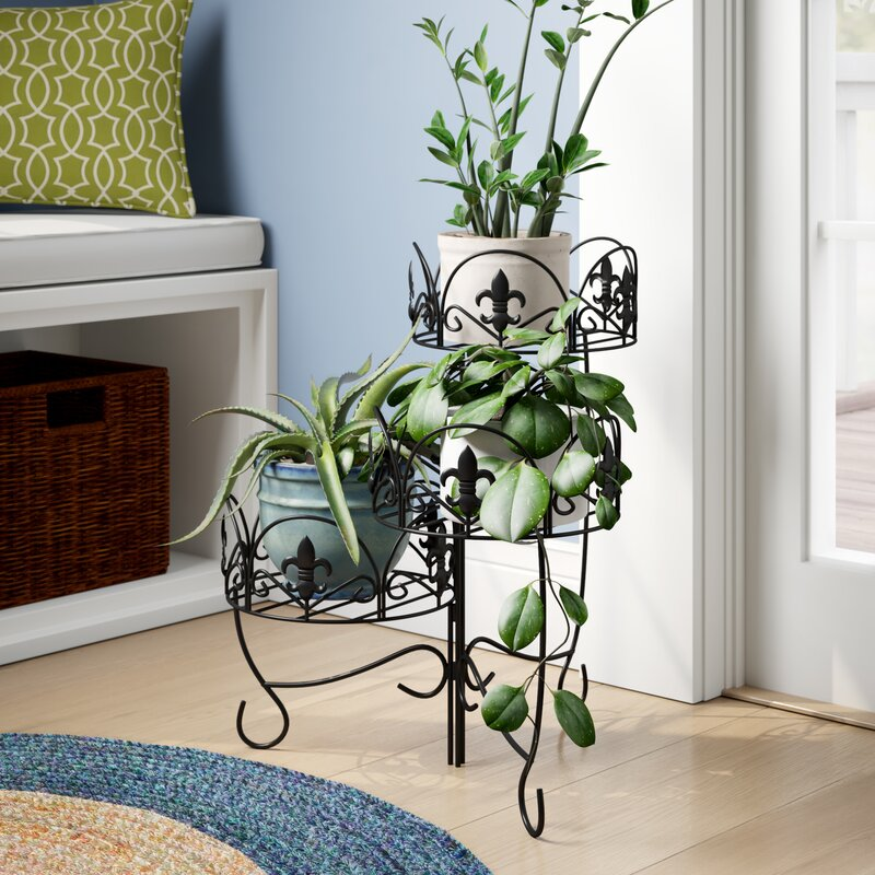 c9636792d5 Fleur De Lis Living Ludgershall French Lily Design 3-Tiered Indoor/Outdoor  Plant Stand Set & Reviews   Wayfair