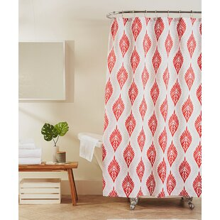 Ikat Red Shower Curtains Youll Love