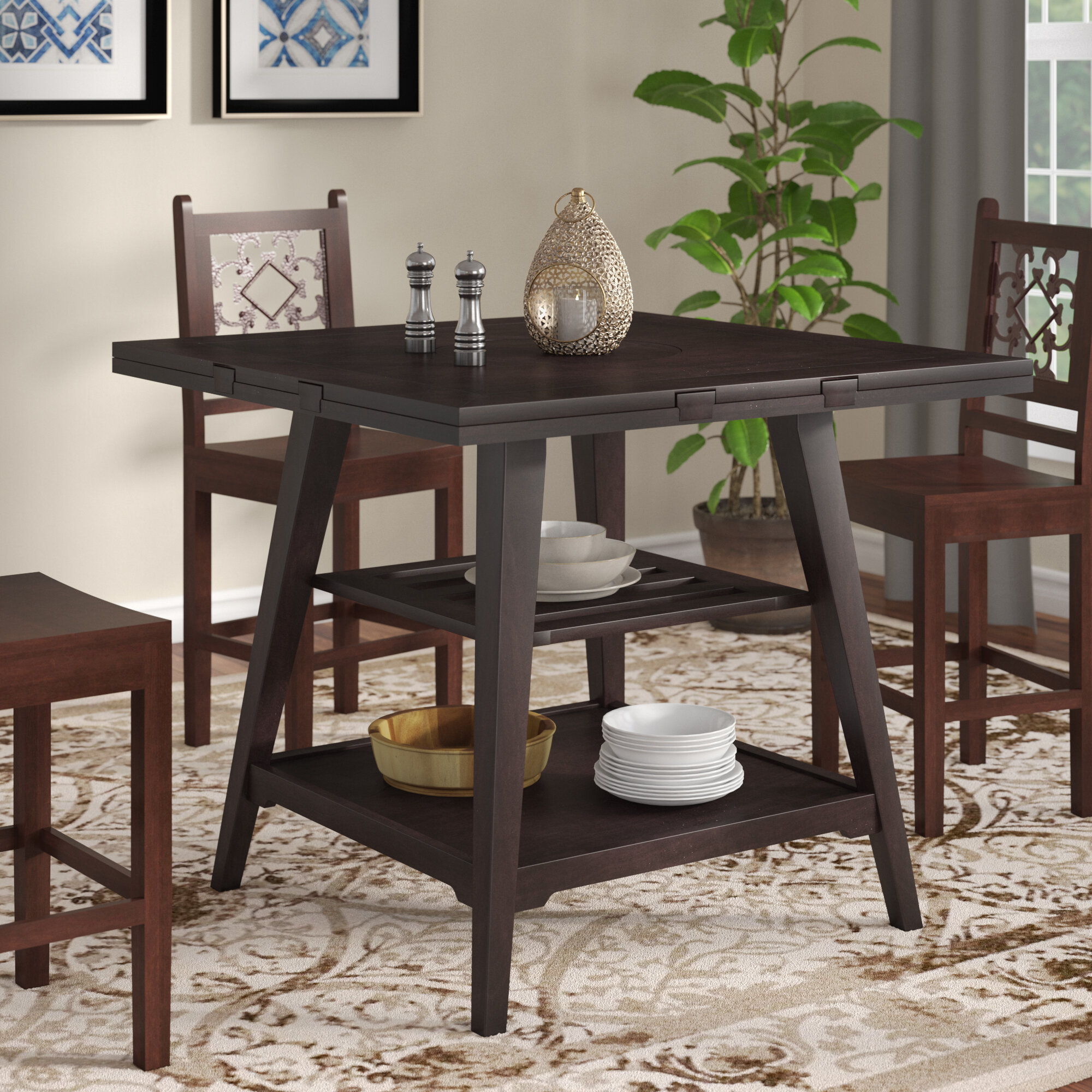 World Menagerie Devereau 60 Round Extendable Dining Table Wayfair