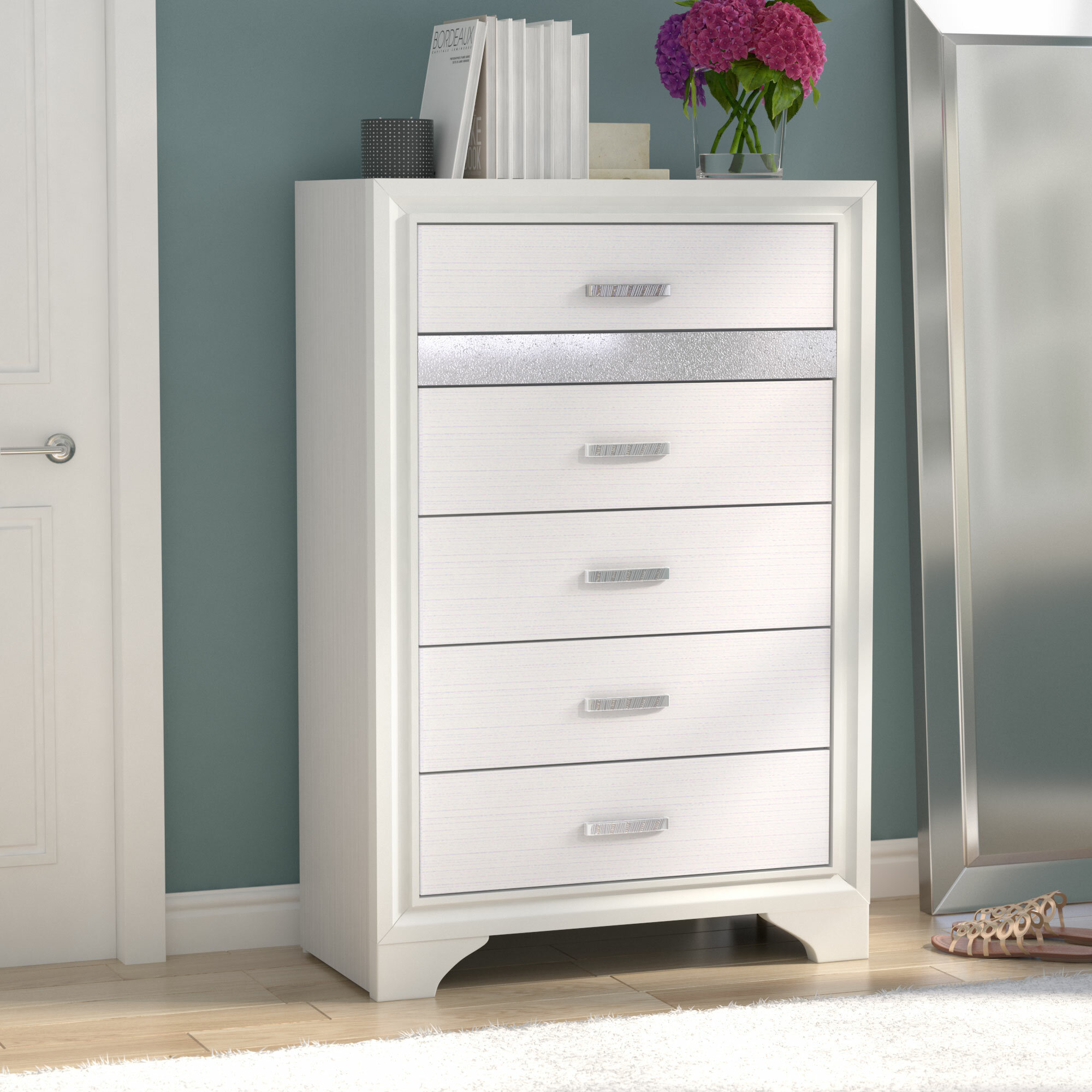 Willa Arlo Interiors Alessandra 5 Drawer Chest & Reviews