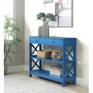 blue console tables you ll love wayfair rh wayfair com navy blue sofa table distressed blue sofa table