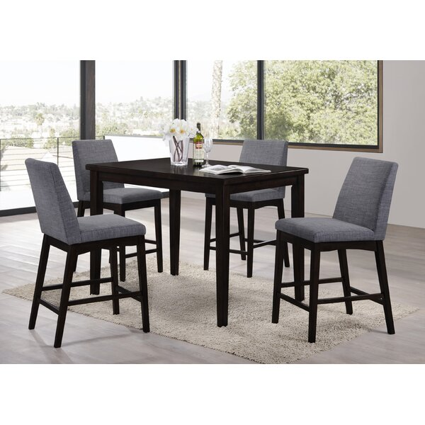 latitude run kingston seymour 5 piece counter height dining set u0026 reviews wayfair