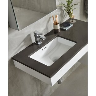 Quickview Ronbow Essence Ceramic Rectangular Undermount Bathroom Sink