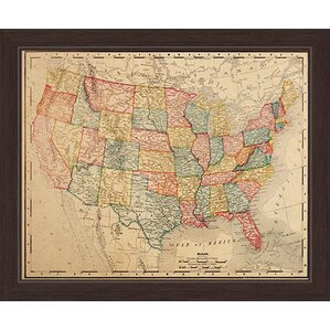 World Map Wall Art Joss Main - Framed us map