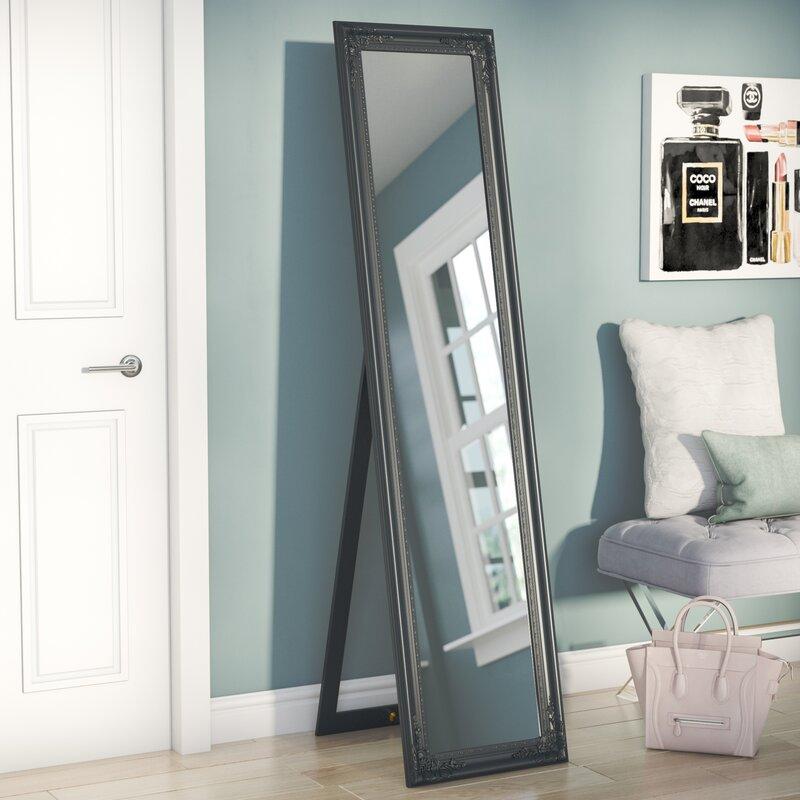 Wooden Mirror Stand Designs : Willa arlo interiors eleni wooden standing wall mirror reviews