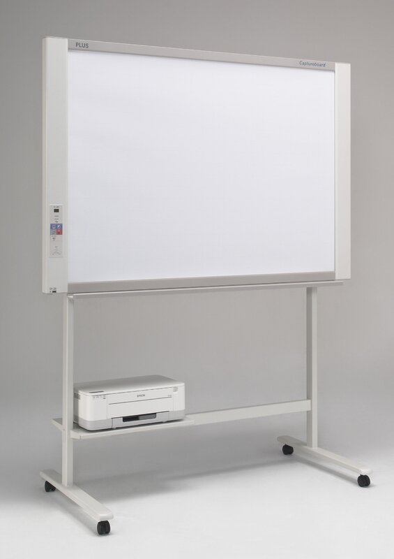 2 Panel Capture Board Free-Standing Reversible Interactive Whiteboard