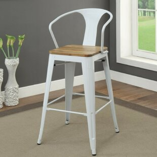 Smithey Modern Metal Frame Bar Stool (Set of 2)