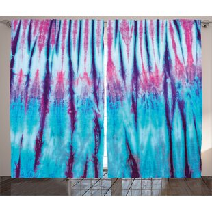 8a72282a8df Britteny Tie DyeGraphic Print and Text Semi-Sheer Rod Pocket Curtain Panels  (Set of 2)