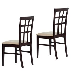 Tiffany Justin Solid Wood Dining Chair (Set of 2)