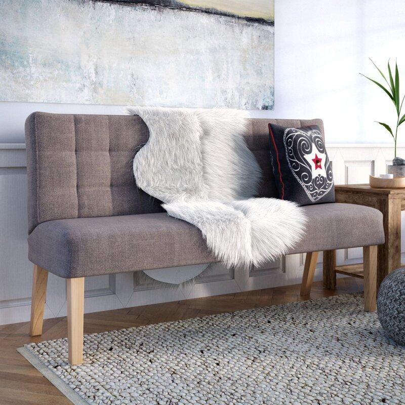 Sofa geschwungen  Wayfair Basics 2-Sitzer Sofa Ubalda & Bewertungen | Wayfair.de