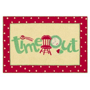 Dunand Time Out Wool Red Area Rug