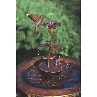 Copper Hummingbird Dripper Fountain. By Ancient Graffiti