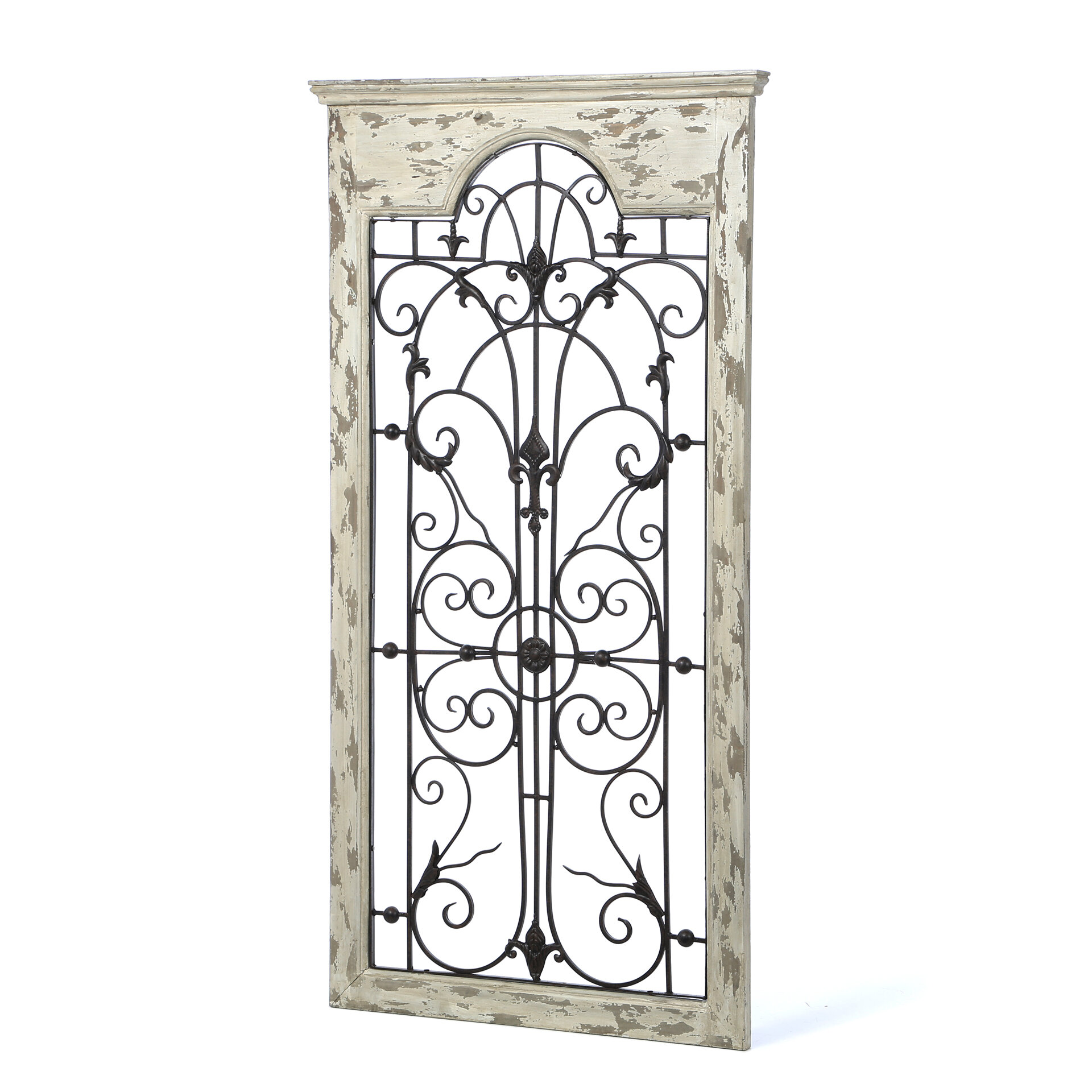 Iron Gate Wall Decor Simple One Allium Way Gate White Wood And Metal Wall Décor & Reviews Review