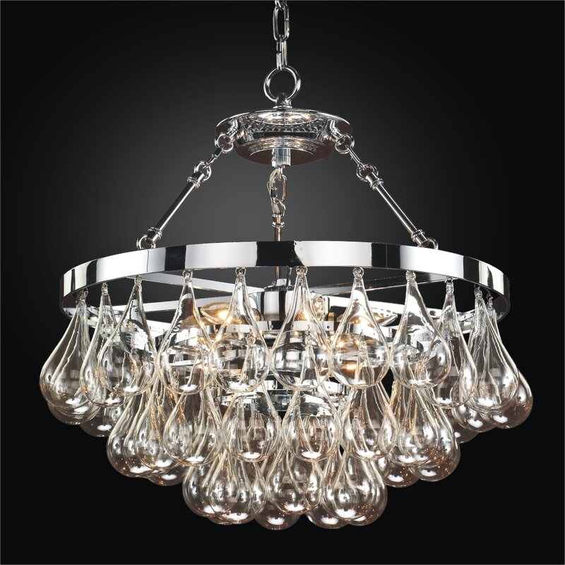 Concorde 6 Light Crystal Chandelier Chandelier For Low