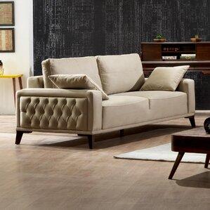 Danos 3 Seater Futon Sofa by Brayden Studio