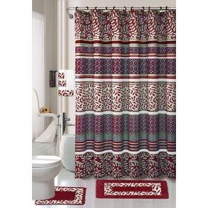 maroon shower curtain set. 18 Piece Shower Curtain Set Daniels Bath  Wayfair