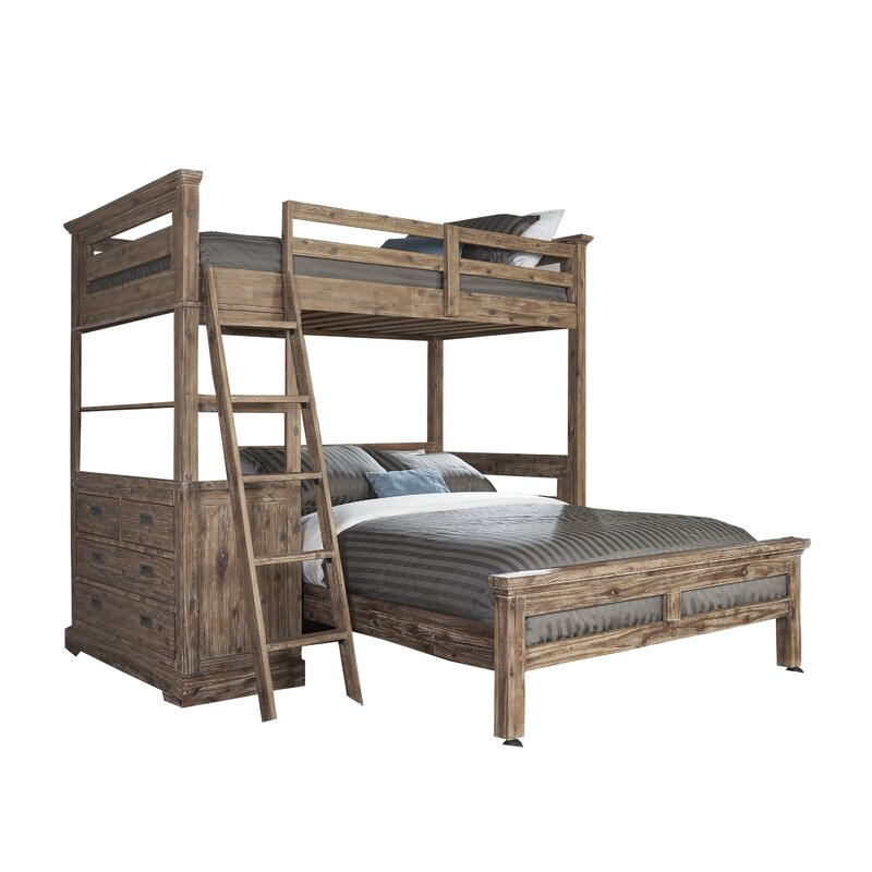 Bryon Twin Over Full L Shaped Bunk Bed With 4 Drawer Chest